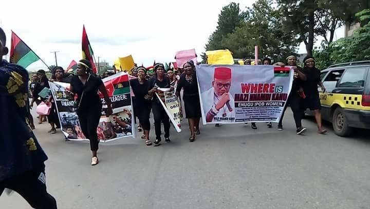 IPOB Women Protest In Owerri 17th  August 2018