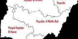 Nigeria map divide republics