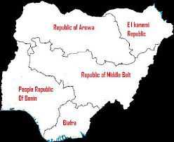Nigeria map divide republics