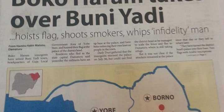 Hausa/Fulani Islamic terrorists Boko Haram takes over local