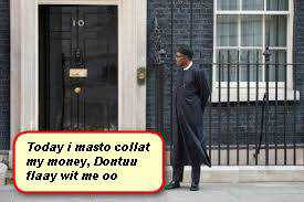 Buhari stads outside british parliament2