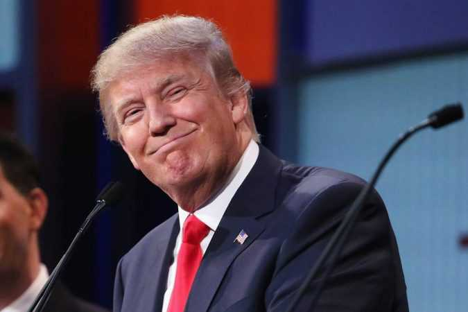 Donald Trump Smiles at debate