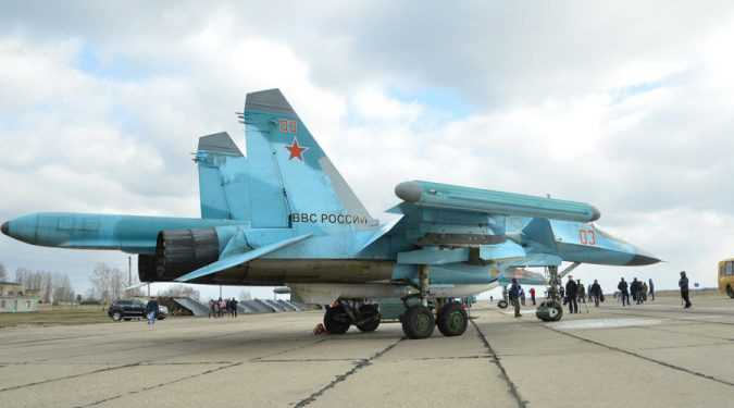 Russian Su-34 Bomber Jets from Syria