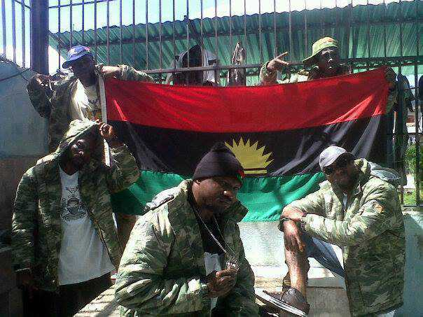 Biafran in Army uniforms