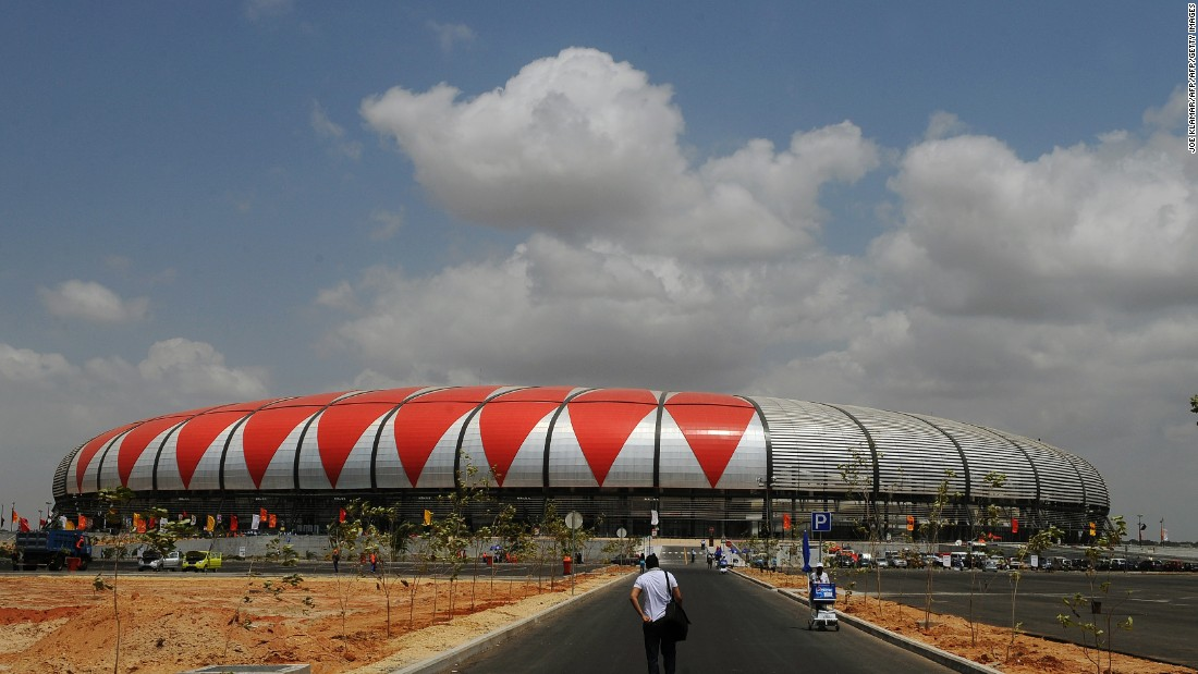 'Stadium diplomacy' has been another feature of Chinese investment, with new arenas in Cameroon, Ghana, and Angola's November 11 stadium in Luanda (pictured).