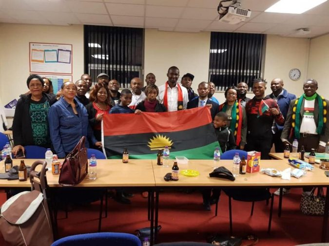 Some members of the Indigenous People of Biafra (IPOB) North West England
